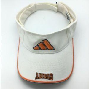 Adidas logo white,orange&black sun visor hat